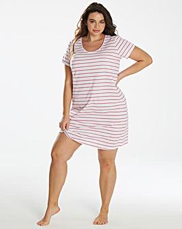 Pretty Secrets Short Sleeve Pink Stripe Nightie