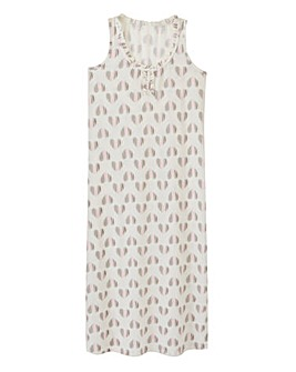 Pretty Secrets Heart Print Maxi Nightie