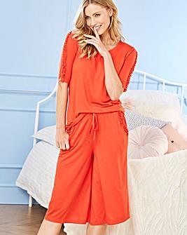 Pretty Secrets Frill Culotte Pyjama Set