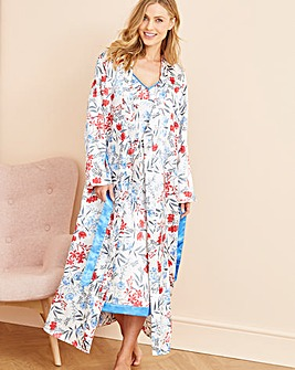 Pretty Secrets Luxury Satin Wrap Gown