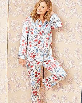 Pretty Secrets Satin Floral Pyjama Set