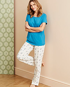 Pretty Secrets Blue Floral Pyjama Set