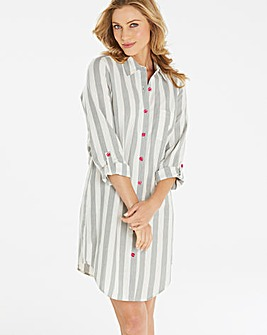 Pretty Secrets Woven Stripe Sleepshirt