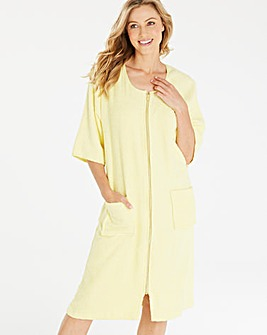 Pretty Secrets Lemon Towelling Gown L42