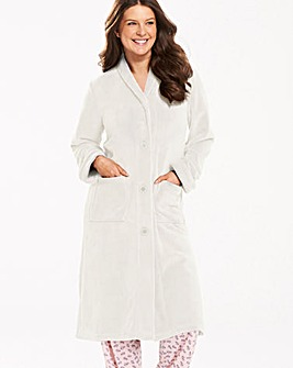 Pretty Secrets Cream Button Fleece Gown
