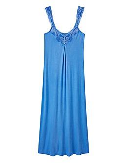 Pretty Secrets Blue Lace Detail Chemise