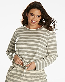 Pretty Secrets Stripe Lounge Top