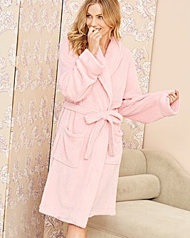 Pretty Secrets Fleece Waffle Gown L48