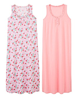 Pretty Secrets 2 Pack Maxi Nighties L48