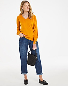 Super Soft Button Detail Jumper