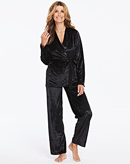 Pretty Secrets Velour Wrap PJ Set