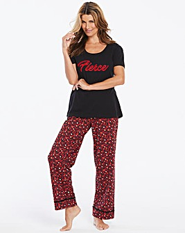 Pretty Secrets Velour Slogan PJ Set