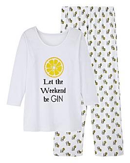 Pretty Secrets 3/4 Sleeve Gin PJ Set