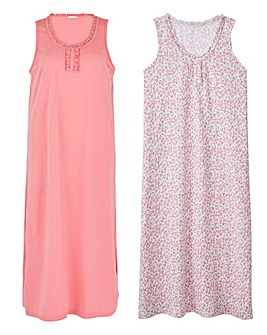 Pretty Secrets 2 Pack Maxi Nighties