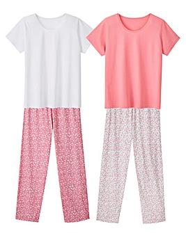 Pretty Secrets 2Pk Short Sleeve Pyjamas