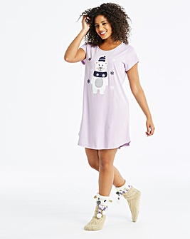 Pretty Secrets BearlyAwake Lilac Nightie