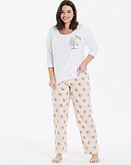 Dumbo 3/4 Sleeve Polka Dot Pyjama Set