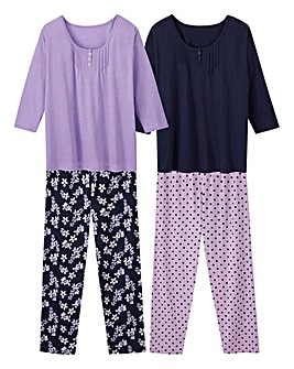 Pretty Secrets Pack of 2 Pyjama Sets