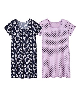 Pretty Secrets Pack of 2 Nighties 38in