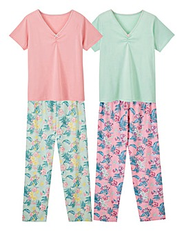Pretty Secrets 2pk Short Sleeve PJ Sets