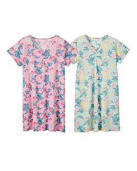 Pretty Secrets 2pk Tropic Print Nighties