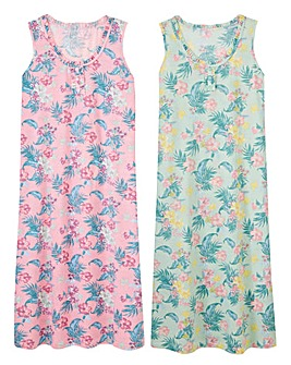 Pretty Secrets 2 Pack Maxi Nighties 48in