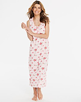 Pretty Secrets Rose Print Maxi Nightie