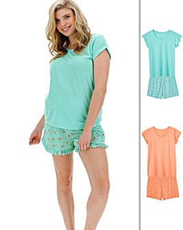 Pretty Secrets 2Pk Tshirt Shortie sets