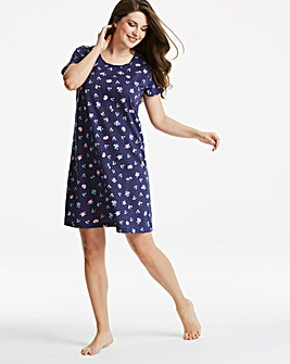 Pretty Secrets Short Sleeve Nightie 38in