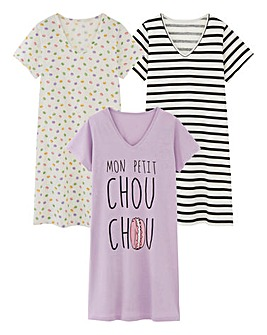 Pretty Secrets 3 Pack Nighties 46in
