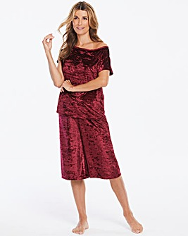 Pretty Secrets Velour Culotte Set