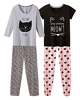 Pretty Secrets 2pk Mixed Pyjama Set