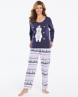 Pretty Secrets Bear Awake Long Sleeve PJ