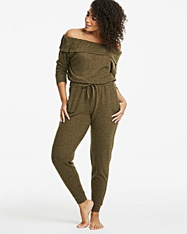 Pretty Secrets Soft Knit Bardot Jumpsuit