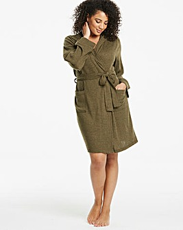 Pretty Secrets Khaki Knitted Hooded Gown 36""