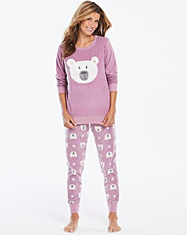 Pretty Secrets Fleece Bear Cuff PJ Set
