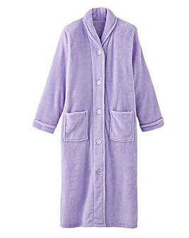 Pretty Secrets Lilac Button Fleece Gown