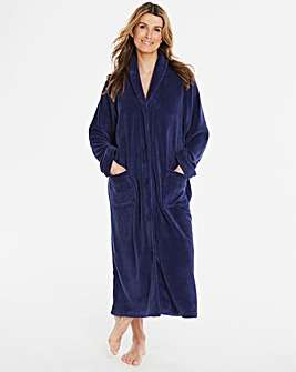 Pretty Secrets Navy Button Fleece Gown