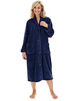 Pretty Secrets Navy Button Fleece Gown