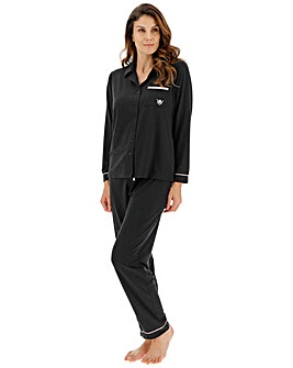 Pretty Lounge The Button Pyjama, Black
