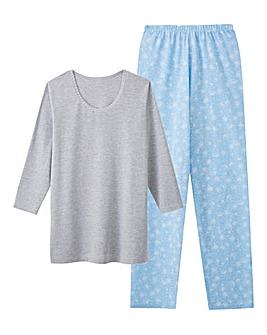 Pretty Secrets 3/4 Sleeve Blue PJ Set