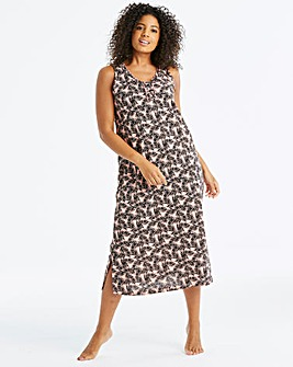 Pretty Secrets Printed Maxi Nightie 48in
