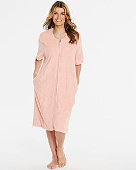 Pretty Secrets Peach Zip Gown