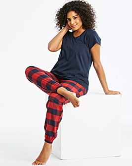 Pretty Secrets Flannel Cuffed PJ Set