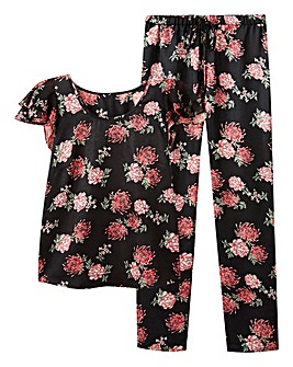 Pretty Secrets Frill Satin Pyjama Set