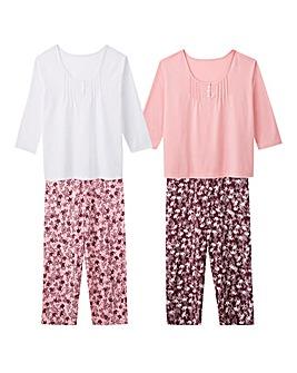 Pretty Secrets 2Pack Berry/Pink PJ Sets