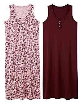 Pretty Secrets 2Pack Berry/Pink Maxi Nighties L48