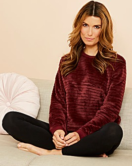 Pretty Secrets Textured Fleece Jumper
