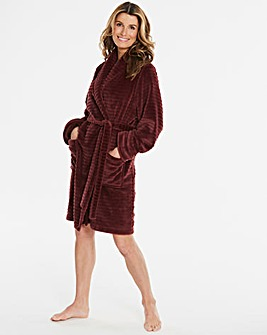 Pretty Secrets Textured Fleece Gown