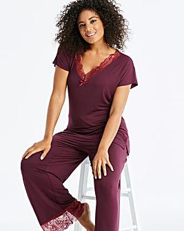 e0e2ca65bc Pretty Secrets Ella Lace Berry PyjamaSet